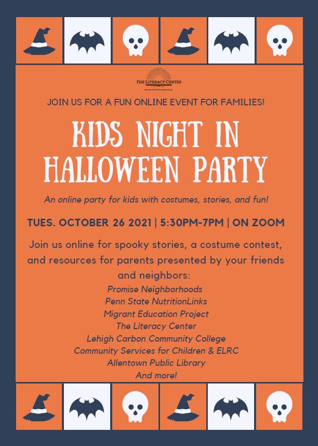 kids night halloween party
